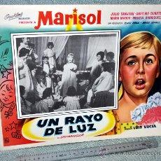 Cine: MARISOL - UN RAYO DE LUZ - AFICHE CARTELERA CINE - LOBBY CARD - GRAN TAMAÑO 410 X 317 MM.. Lote 29643503