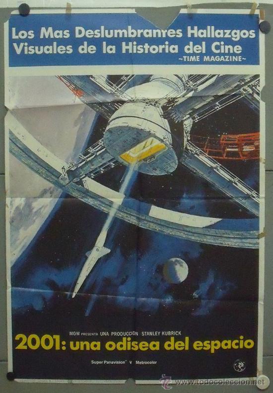 OQ50 2001 UNA ODISEA DEL ESPACIO STANLEY KUBRICK POSTER ORIGINAL 70X100 ESTRENO (Cine - Posters y Carteles - Ciencia Ficción)