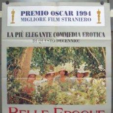Cine: OR80 BELLE EPOQUE FERNANDO TRUEBA GUERRA CIVIL PENELOPE CRUZ POSTER ORIGINAL ITALIANO 100X140. Lote 29989834