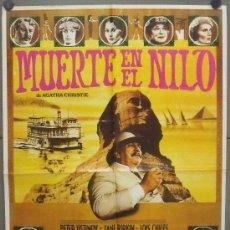 Cine: OR78 MUERTE EN EL NILO PETER USTINOV AGATHA CHRISTIE POSTER ORIGINAL 70X100 ESTRENO. Lote 29989891