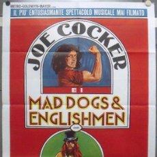 Cine: OR77 MAD DOGS AND ENGLISHMEN JOE COCKER POSTER ORIGINAL ITALIANO 100X140. Lote 29989928
