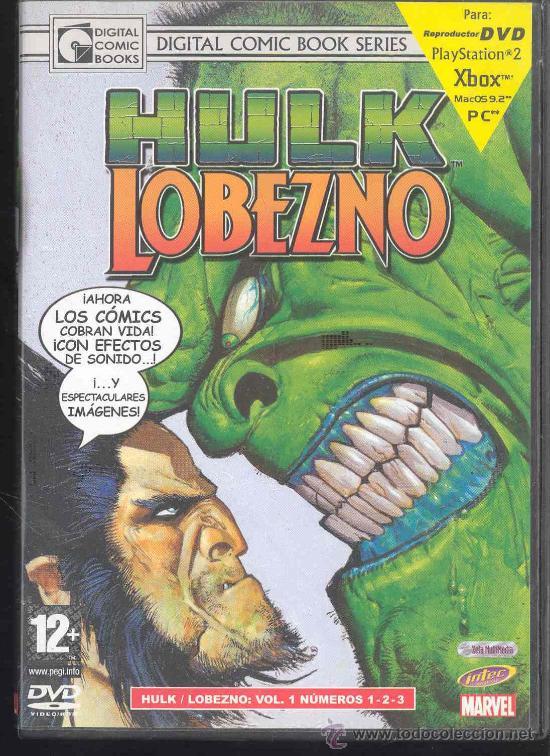 DVD - DIGITAL COMICS BOOKS SERIES - HULK - LOBEZNO: VOLUMEN 1 NºS 1-2-3- (Cine - Posters y Carteles - Infantil)