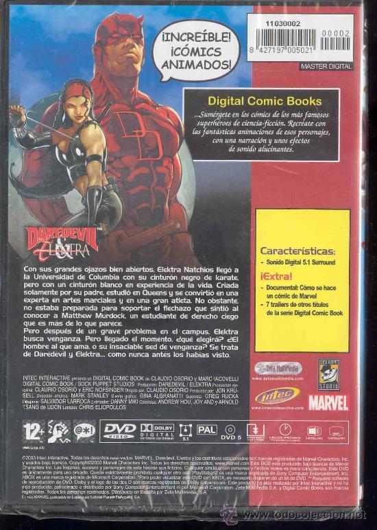 Cine: DVD - DIGITAL COMICS BOOKS SERIES - ULTIMATE DAREDEVIL ELEKTRA - VOLUMEN 1: Nºs 1-2-3- - Foto 2 - 30055999