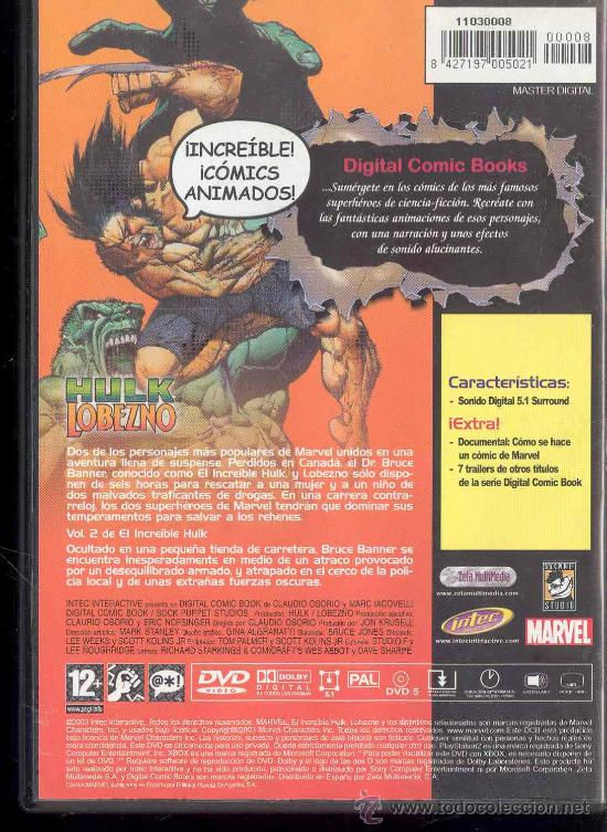 Cine: DVD - DIGITAL COMICS BOOKS SERIES - HULK - LOBEZNO: VOLUMEN 1 Nºs 1-2-3- - Foto 2 - 30055871