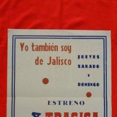 Cine: TRAGICA OBSESION, YO TAMBIÉN SOY DE JALISCO, CARTELITO ORIGINAL LOCAL (44X57) CINE AVENIDA REUS. Lote 30137005