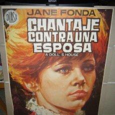 Cinema: CHANTAJE CONTRA UNA ESPOSA JANE FONDA POSTER ORIGINAL 70X100 JANO. Lote 30161901