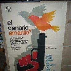 Cine: EL CANARIO AMARILLO PAT BOONE POSTER ORIGINAL 70X100 MAC. Lote 30218333