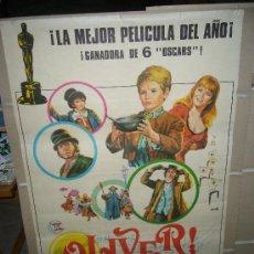 Cine: OLIVER CAROL REED OSCAR MEJOR PELICULA POSTER ORIGINAL 70X100 ESTRENO JANO. Lote 30222156
