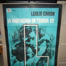 Cine: LA HABITACION EN FORMA DE L LESLIE CARON POSTER ORIGINAL 70X100 MAC. Lote 30254203