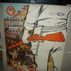 Cine: EL RIFLE DEL FORASTERO STEWART GRANGER RHONDA FLEMING JANO POSTER ORIGINAL 70X100. Lote 30274992