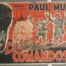 Cine: YZ85D COMMANDOS STRIKE AT DAWN PAUL MUNI LILIAN GISH POSTER ORG 3 HOJAS ARGENTINO 110X220 LITOGRAFIA. Lote 30304202