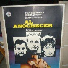 Cine: AL ANOCHECER CLAUDE CHABROL STEPHANE AUDRAN MICHEL BOUQUET POSTER ORIGINAL 70X100 JANO. Lote 269572923