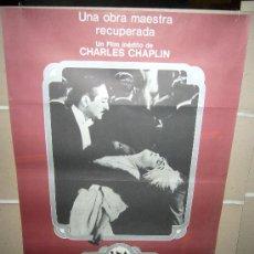 Cine: UNA MUJER DE PARIS CHARLES CHAPLIN EDNA PURVIANCE POSTER ORIGINAL 90X60. Lote 30327704