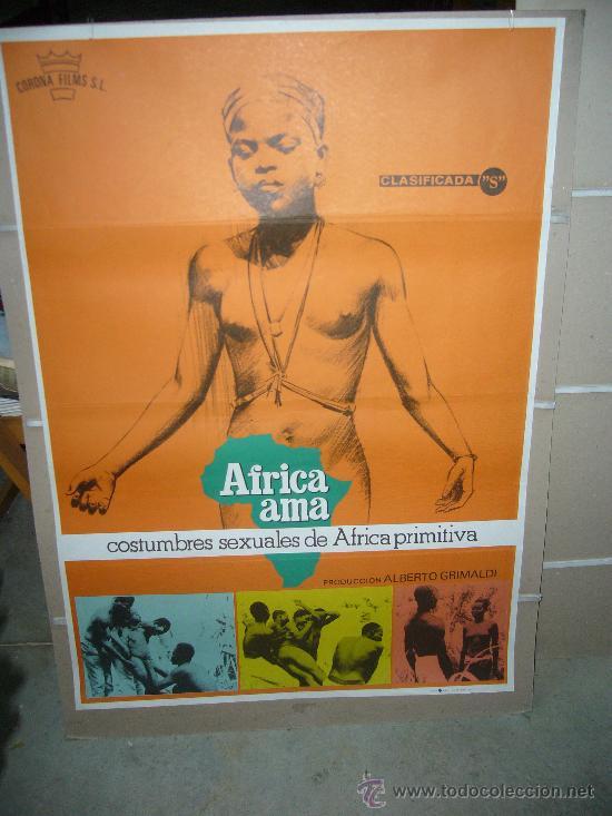 AFRICA AMA ALBERTO GRIMALDI POSTER ORIGINAL 70X100 (Cine - Posters y Carteles - Documentales)