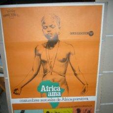 Cine: AFRICA AMA ALBERTO GRIMALDI POSTER ORIGINAL 70X100 . Lote 30332614