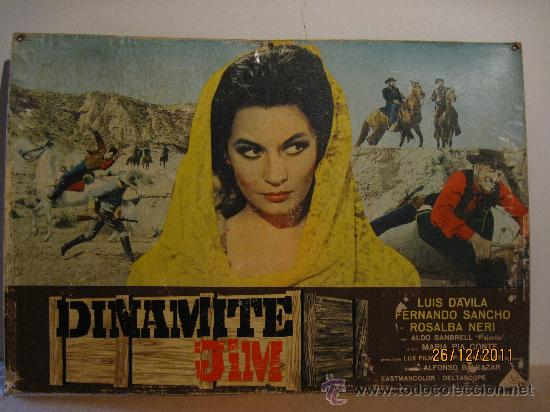 DINAMITE JIM - WESTER - 1.968 - FOTOCROMO GRAN TAMAÑO : 67 CM X 46 CM (Cine - Posters y Carteles - Westerns)