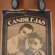 Cine: CARTEL DE CHARLES CHAPLIN CHARLOT DE LA PELICULA CANDELEJAS. . Lote 30617011