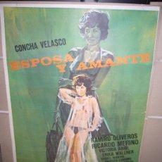 Cine: ESPOSA Y AMANTE CONCHA VELASCO POSTER ORIGINAL 70X100 . Lote 30636340