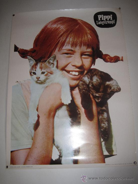 PIPPI LANGSTRUMF. FOTOGRAFIA GRANDE EN COLOR AÑO 1.975 / 50 X 68 CMS. (Cine - Posters y Carteles - Infantil)