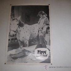Cine: PIPPI LANGSTRUMPF- FOTOGRAFIA EN BLANCO Y NEGRO - AÑO : 1.975 / 34,5 X 50 CMS.. Lote 30736496