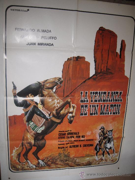 CARTEL ORIGINAL DE LA PELICULA - LA VENGANZA DE UN MATON - AÑO 1.980 (Cine - Posters y Carteles - Westerns)