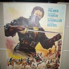 Cine: LA REBELION DE LOS COSACOS DICK PALMER EDWIGE FENECH POSTER ORIGINAL 70X100. Lote 30842767