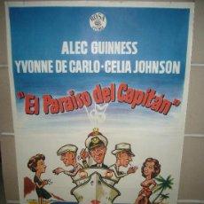 Cine: EL PARAISO DEL CAPITAN ALEC GUINNESS YVONNE DE CARLO POSTER ORIGINAL 70X100. Lote 30842893