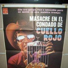 Cine: MASACRE EN EL CONDADO DE CUELLO ROJO LESLIE UGGAMS POSTER ORIGINAL 70X100 YY. Lote 30852829