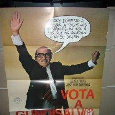 Cine: VOTA A GUNDISALVO ANTONIO FERRANDIS POSTER ORIGINAL 70X100 D175. Lote 30854018