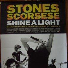 Cine: SHINE A LIGHT, CON LOS ROLLING STONES. POSTER.. Lote 221960681