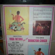 Cine: VIDA INTIMA DE UN SEDUCTOR CINICO CARLOS ESTRADA TERESA GIMPERA POSTER ORIGINAL 70X100 . Lote 30985315