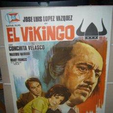 Cine: EL VIKINGO LOPEZ VAZQUEZ CONCHA VELASCO POSTER ORIGINAL 70X100 . Lote 30985525