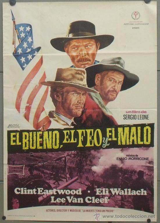 OW69D EL BUENO EL FEO Y EL MALO SERGIO LEONE CLINT EASTWOOD POSTER ORIGINAL 70X100 DEL ESTRENO A2 (Cine - Posters y Carteles - Westerns)