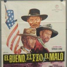 Cine: OW69D EL BUENO EL FEO Y EL MALO SERGIO LEONE CLINT EASTWOOD POSTER ORIGINAL 70X100 DEL ESTRENO A2. Lote 31010850