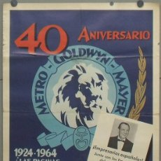 Cine: OW77 40 ANIVERSARIO METRO GOLDWYN MAYER MGM POSTER ORIGINAL 70X100 ESPAÑOL. Lote 31011541