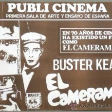 Cine: XH52D EL CAMERAMAN POSTER BUSTER KEATON POSTER ORIGINAL 50X70 ESPAÑOL. Lote 31014304
