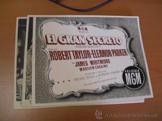 12 CARTELES DE LA PELICULA EL GRAN SEGRETO,CON LA FUNDA ORIGINAL MGM VER FOTOS (Cine - Posters y Carteles - Comedia)