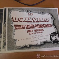 Cine: 12 CARTELES DE LA PELICULA EL GRAN SEGRETO,CON LA FUNDA ORIGINAL MGM VER FOTOS. Lote 31080833