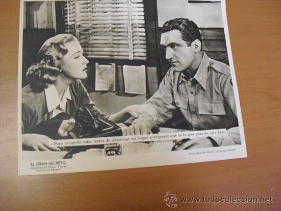 Cine: 12 carteles de la pelicula el gran segreto,con la funda original MGM ver fotos - Foto 6 - 31080833