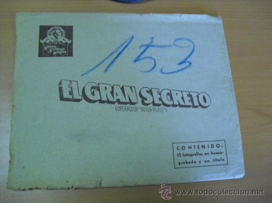 Cine: 12 carteles de la pelicula el gran segreto,con la funda original MGM ver fotos - Foto 13 - 31080833