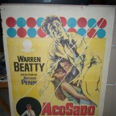 Cine: ACOSADO WARREN BEATTY POSTER ORIGINAL 70X100 . Lote 31099165