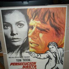 Cinema: PERSECUCION HASTA VALENCIA TOM TRYON JULIO COLL POSTER ORIGINAL 70X100 ESTRENO . Lote 31124109