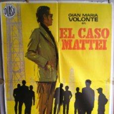 Cine: CARTEL DE CINE: EL CASO MATTEI (100 X 70 CM.). Lote 31153607