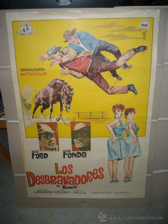 LOS DESBRAVADORES HENRY FONDA GLENN FORD POSTER ORIGINAL 70X100 (Cine - Posters y Carteles - Westerns)