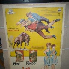 Cine: LOS DESBRAVADORES HENRY FONDA GLENN FORD POSTER ORIGINAL 70X100. Lote 31172226