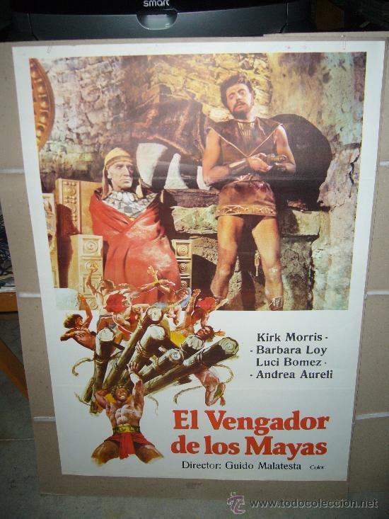 EL VENGADOR DE LOS MAYAS POSTER ORIGINAL 70X100 (Cine - Posters y Carteles - Aventura)