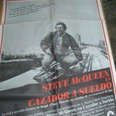 Cine: CARTEL DE CINE: CAZADOR A SUELDO POR STEVE MCQUEEN. Lote 31267926