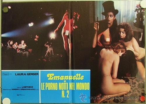 VF28D EMANUELLE EN LAS NOCHES PORNO DEL MUNDO JOE D'AMATO LAURA GEMSER POSTER ORIG ITALIANO 47X68 (Cine - Posters y Carteles - Terror)