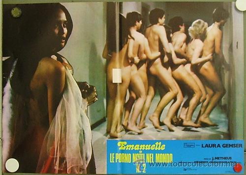 HN24 EMANUELLE EN LAS NOCHES PORNO DEL MUNDO JOE D'AMATO LAURA GEMSER POSTER ORIGINAL ITALIANO 47X68 (Cine - Posters y Carteles - Terror)