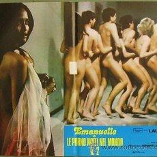Cine: HN24 EMANUELLE EN LAS NOCHES PORNO DEL MUNDO JOE D'AMATO LAURA GEMSER POSTER ORIGINAL ITALIANO 47X68. Lote 31269999